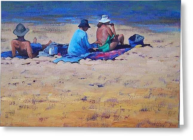 Sunbathers Greeting Card