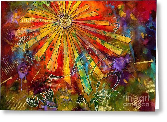 Sunburst Greeting Card by Angela L Walker