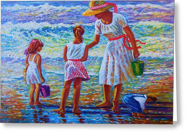 Sunday Afternoon Shore Study Greeting Card by Joseph   Ruff
