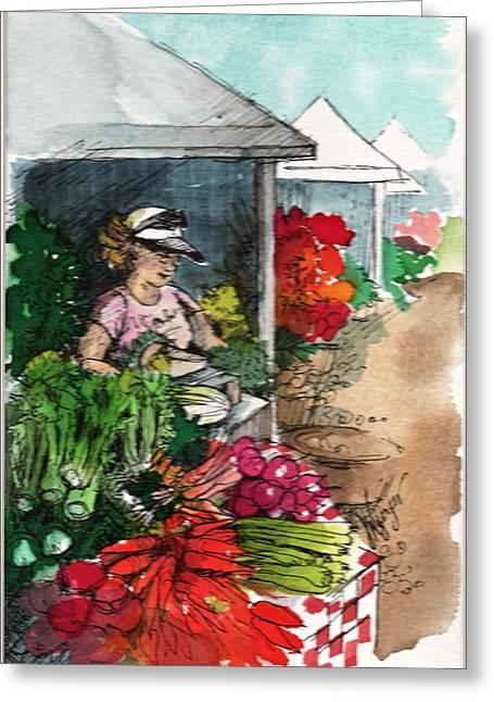Sunday Market - Second Street Greeting Card