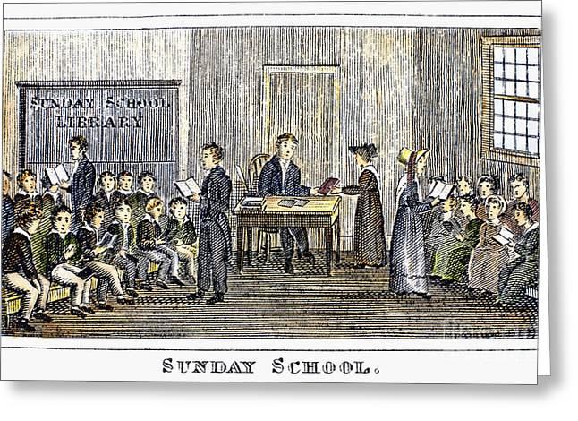 Sunday School, 1832 Greeting Card by Granger