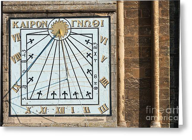 Greeting Card featuring the photograph Sundial by Andrew  Michael