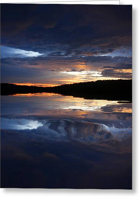 Sundown At Lake Greeting Card