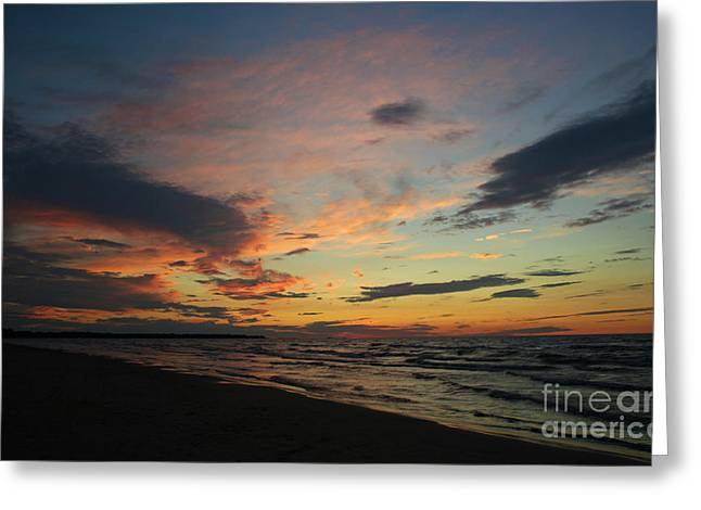 Greeting Card featuring the photograph Sundown  by Barbara McMahon