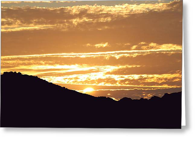 Sundown Greeting Card by Caroline Lomeli