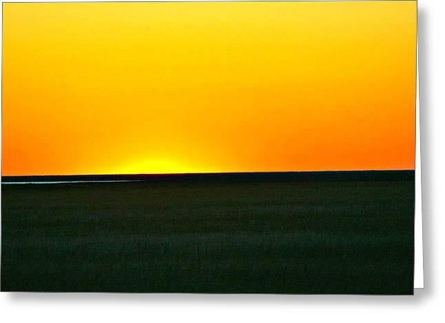 Sundown Greeting Card by Debbie Sikes