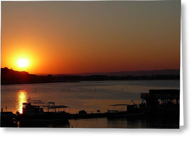 Sundown In Nessebar Greeting Card