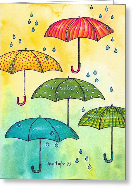 Greeting Card featuring the painting Sundrops by Terry Taylor