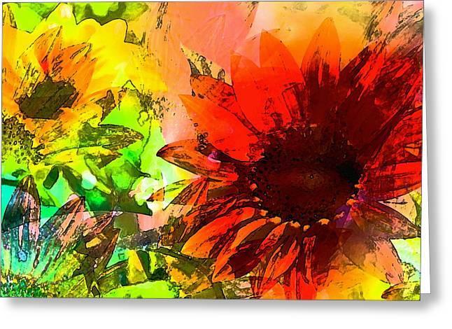 Sunflower 5 Greeting Card by Pamela Cooper