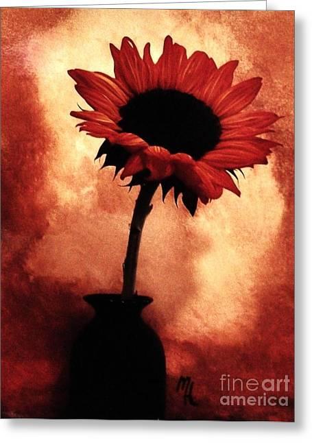 Sunflower All Aglow Greeting Card by Marsha Heiken