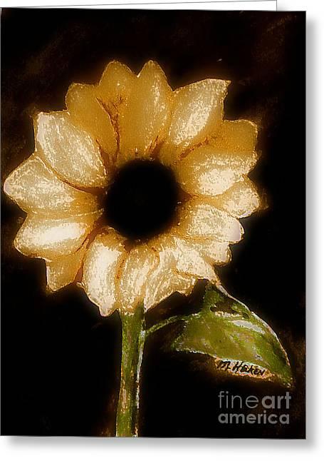 Sunflower Glory Greeting Card by Marsha Heiken