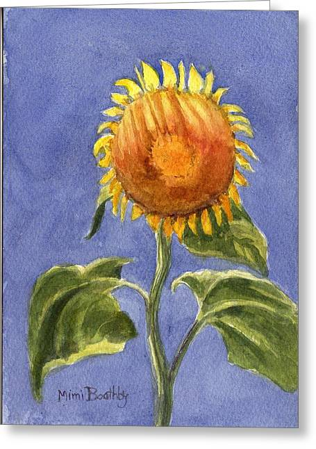 Sunflower Glowing In The Sun Greeting Card