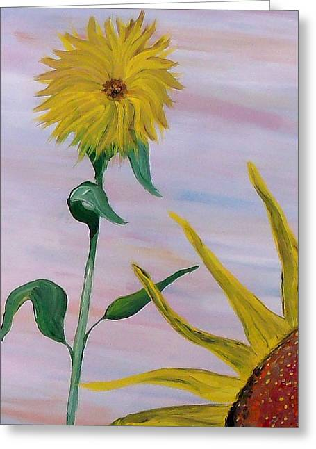 Sunflower Greeting Card by Mark Moore