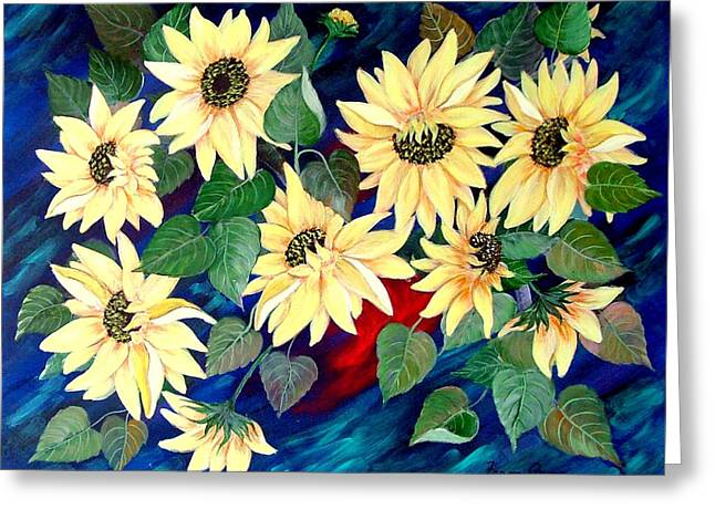 Sunflower Orgy Greeting Card