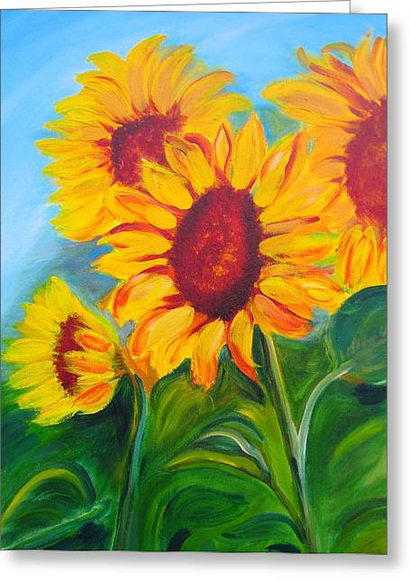 Sunflowers For California Lovers Greeting Card by Dani Altieri Marinucci