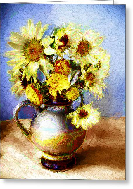 Sunflowers Greeting Card by Heiko Mahr
