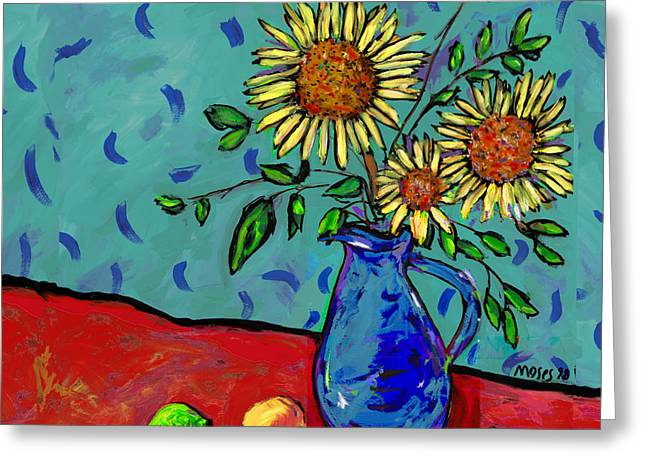 Sunflowers In A Milk Pitcher Greeting Card