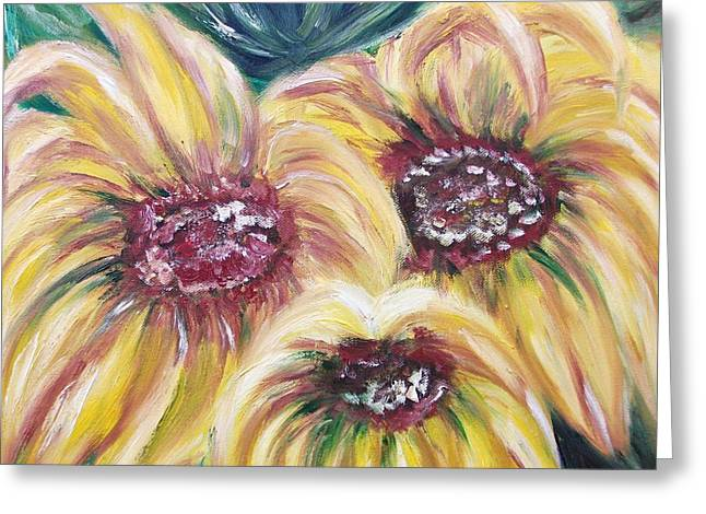 Sunflowers Greeting Card by Irina Kalinkina