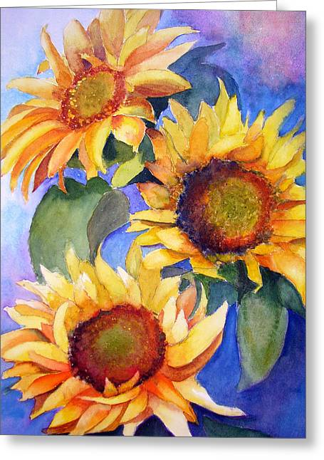 Sunflowers Greeting Card by Lori Chase