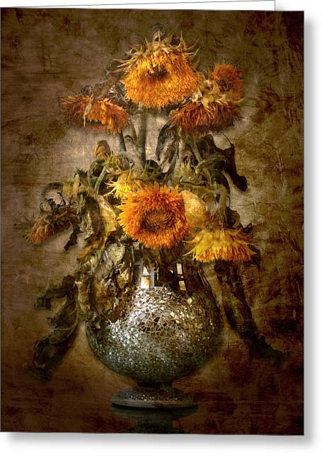 Sunflowers Greeting Card by Marc Huebner