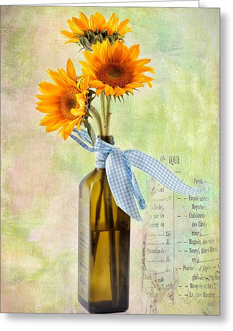 Sunflowers No 402 Greeting Card by James Bethanis