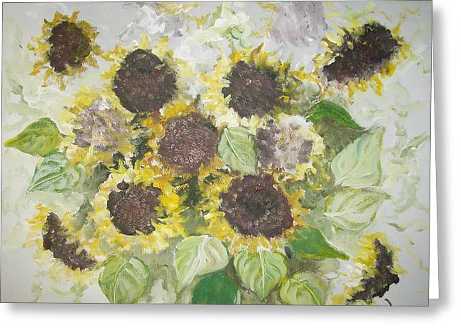 Sunflowers Profile Greeting Card