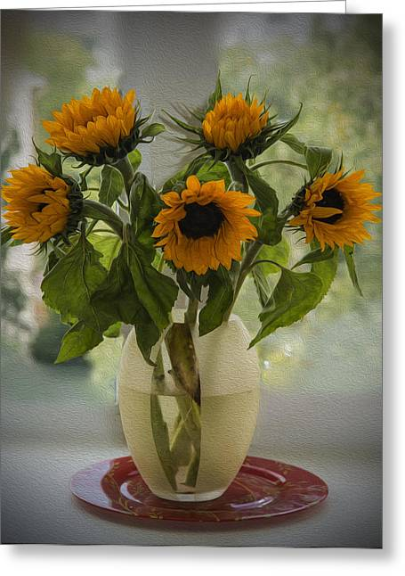 Sunflowers Greeting Card by Vladimir Kholostykh