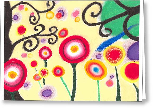 Sunflowers Greeting Card by Susanna  M