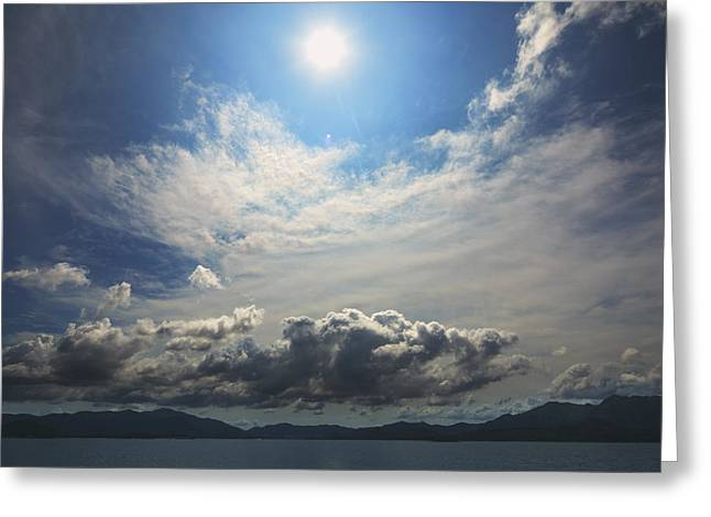 Sunlight And Cloud Greeting Card