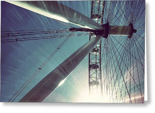 Sunnd Day In London, London Eye Greeting Card