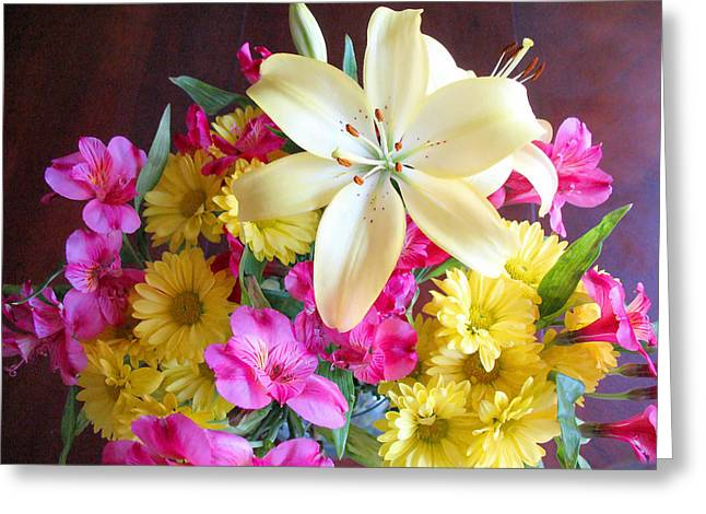 Sunny Bouquet Greeting Card by Connie Fox