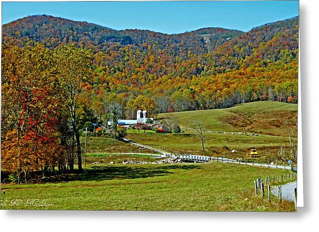 Sunny Day At The Blue Ridge Parkway Greeting Card