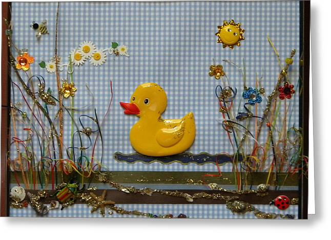 Sunny Duck Greeting Card by Gracies Creations
