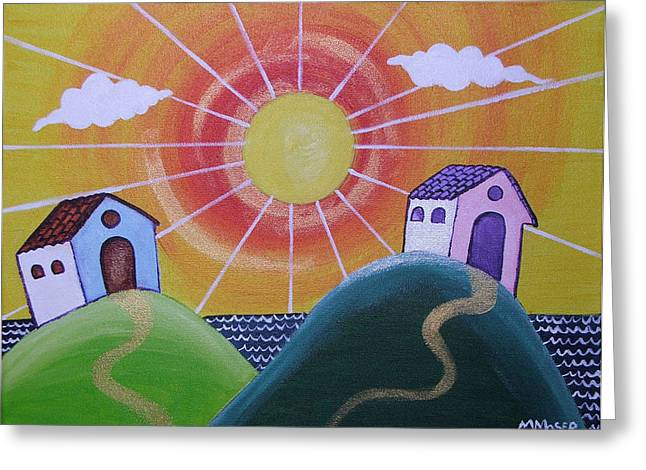 Sunny Greeting Card by Monica Moser