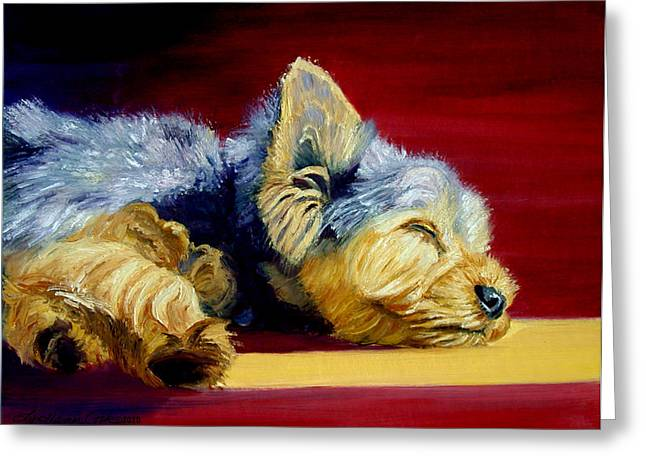 Sunny Patch Yorkshire Terrier Greeting Card