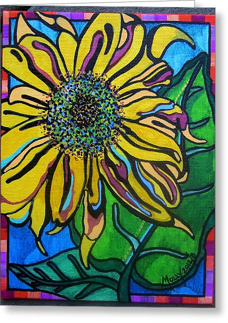 Sunny Sunflower Greeting Card by Molly Williams