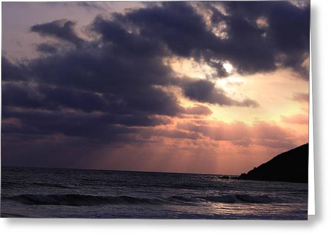 Sunrays From Heaven Greeting Card by Saurabh Shenai