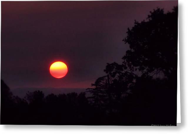 Sunrise  09 25 12 Greeting Card by Joyce Dickens