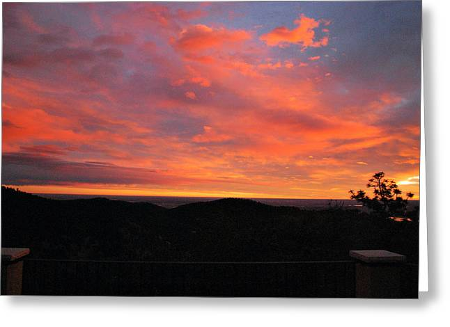 Sunrise Above Boulder-photo Greeting Card