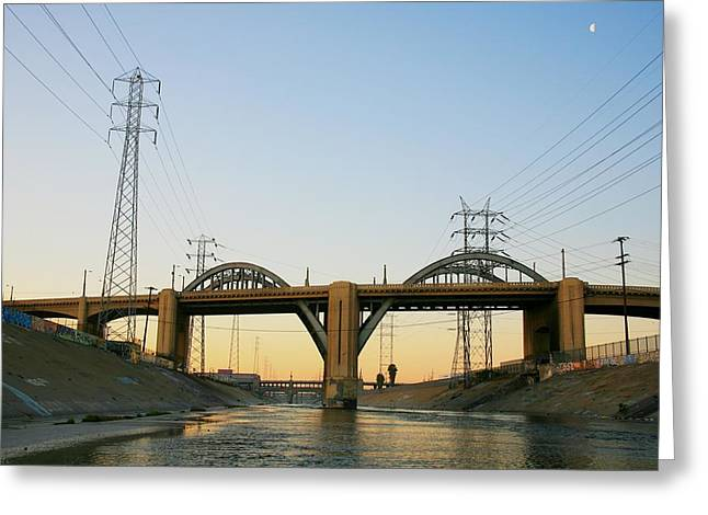 Sunrise At 6th Street Bridge Greeting Card by Kevin  Break