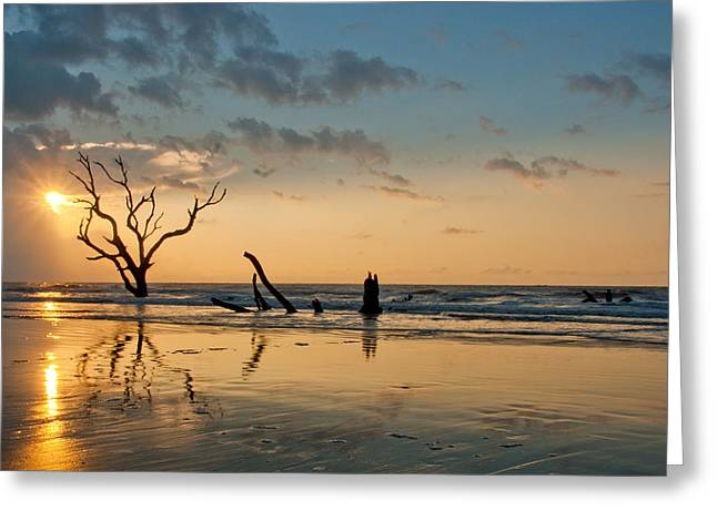 Greeting Card featuring the photograph Sunrise At Bone Yard Beach by Francis Trudeau