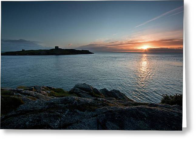 Sunrise At Dalkey Island Greeting Card