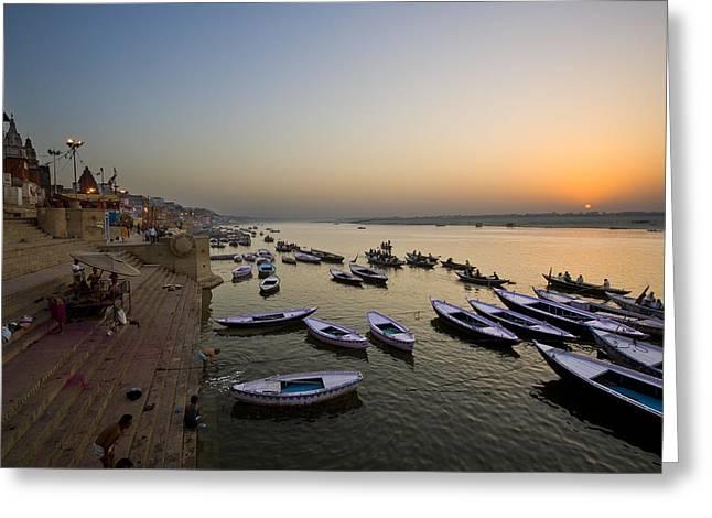 Sunrise At Ganges River Greeting Card