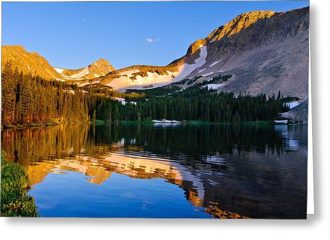 Sunrise At Mitchell Lake Greeting Card
