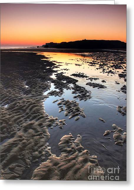 Sunrise At Trow Rocks Greeting Card by Ray Pritchard