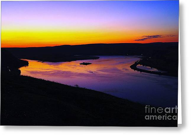 Sunrise At Wishram  Greeting Card by Jeff Swan