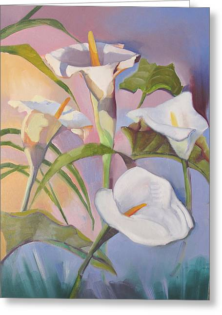 Sunrise Callas Greeting Card