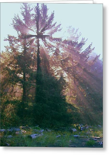 Sunrise Cross Greeting Card