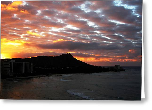 Sunrise Diamond Head I Greeting Card