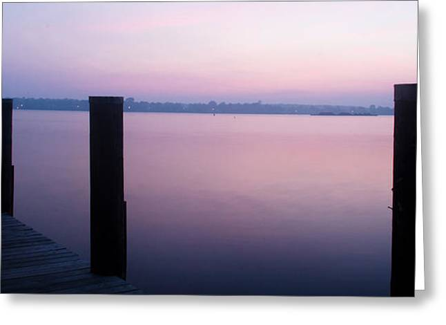 Sunrise Dock Greeting Card